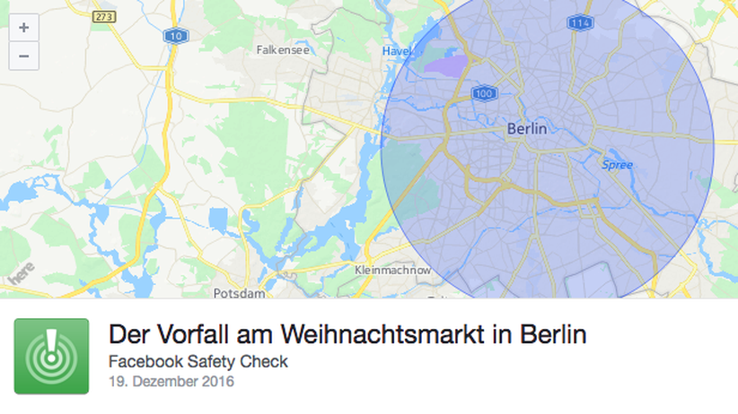 Facebook Safety Check für Berlin