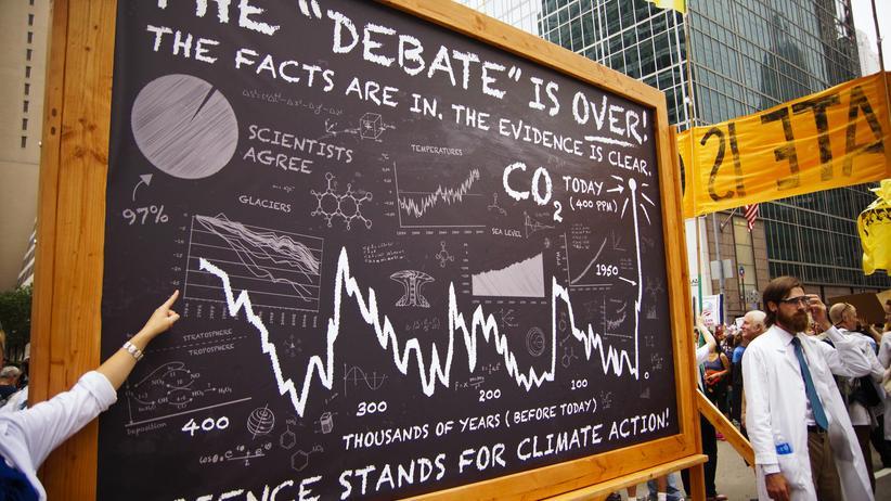 Forscher während des Climate March im Jahr 2014