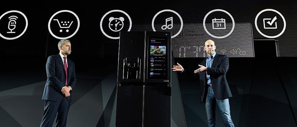 LG präsentierte auf der CES 2017 einen Kühlschrank mit Alexa