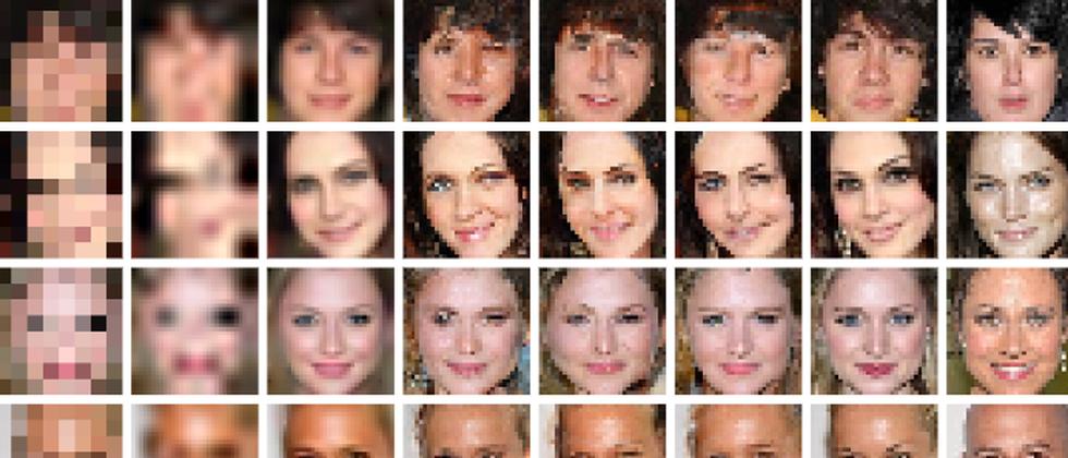 KI generiert Fotos aus acht mal acht Pixeln