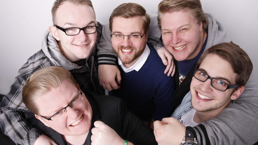 Livestreaming: Das Team von PietSmiet. Unten links: Gründer Peter Smits