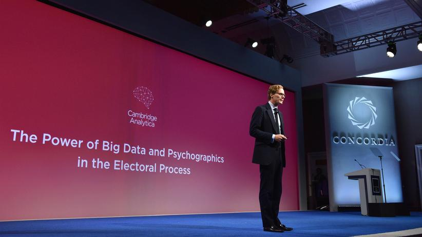 Alexander Nix, CEO von Cambridge Analytica