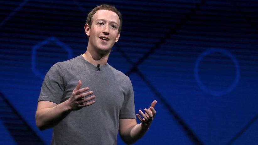 Mark Zuckerberg während seiner Keynote auf der F8 2017