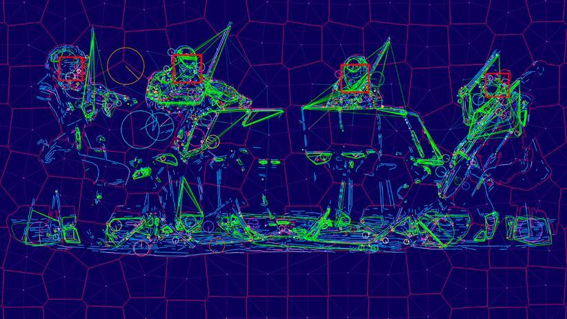 """re:publica: In seinem Projekt """"Sight Machine"""" ließ Trevor Paglen das Kronos Quartet von künstlichen Intelligenzen analysieren."""