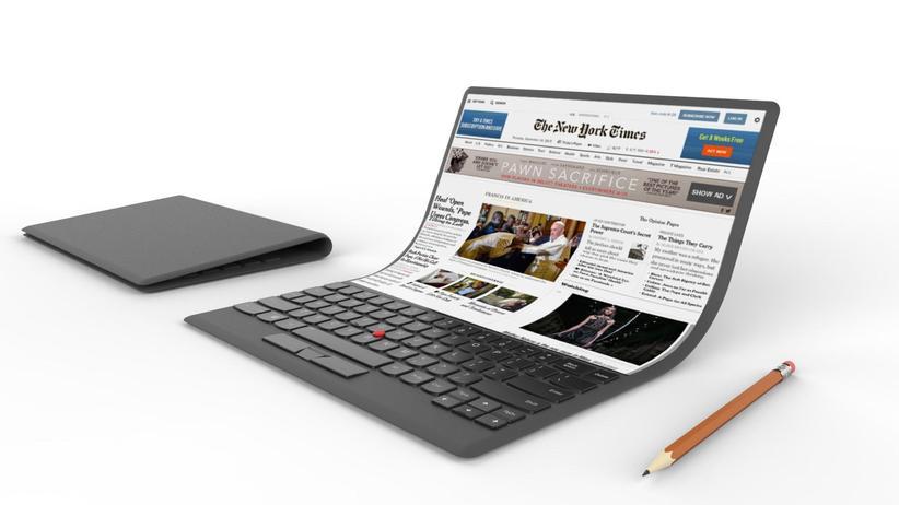 Laptop-Konzept Bendy