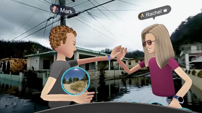"""""""High Five"""" im Flutgebiet – Facebook Spaces macht's möglich."""