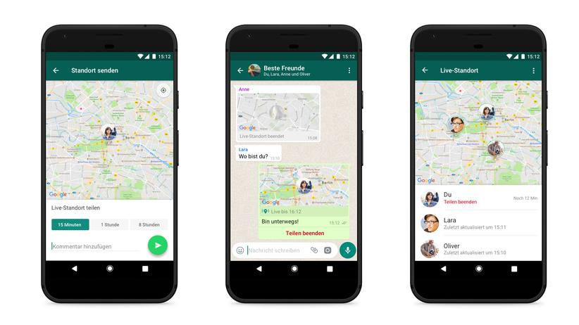 Die neue Live-Standort-Funktion in WhatsApp