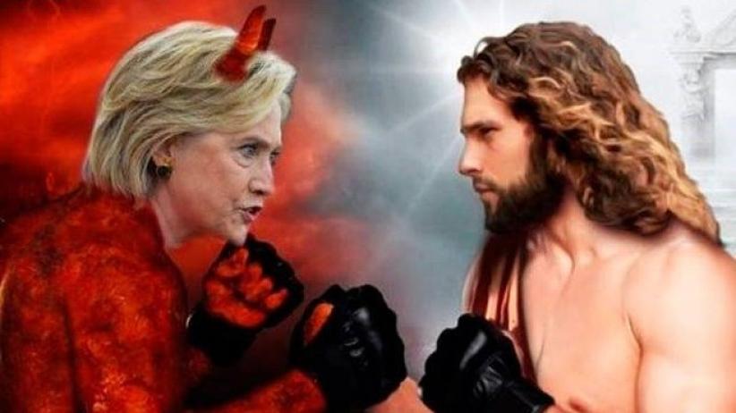 """""""Like if you want Jesus to win"""" – eine der falschen Werbeanzeigen auf Facebook."""