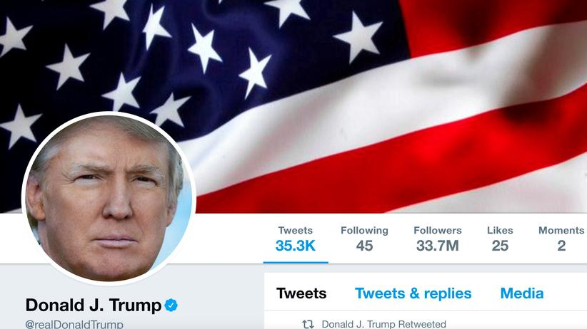 War mal kurz weg: Donald Trump auf Twitter