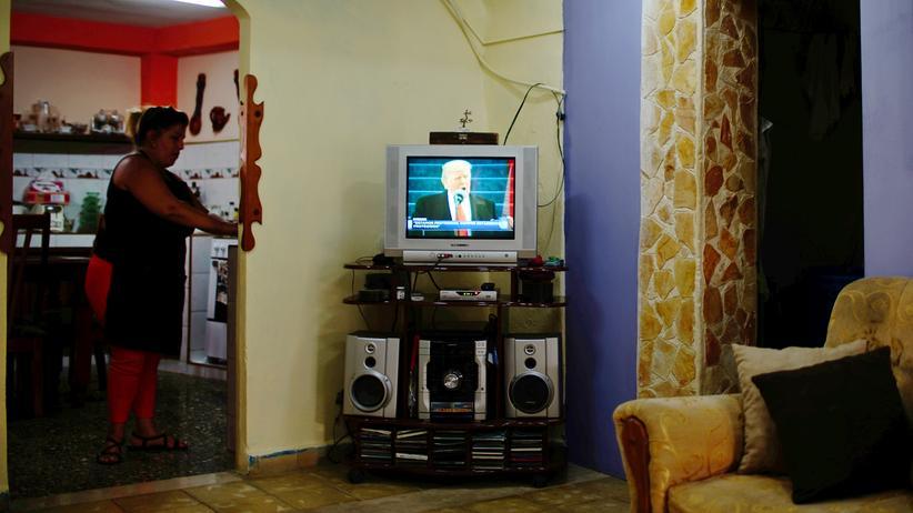 US-Medien: Donald Trump ist medial in vielen Wohnzimmern Amerikas präsent.