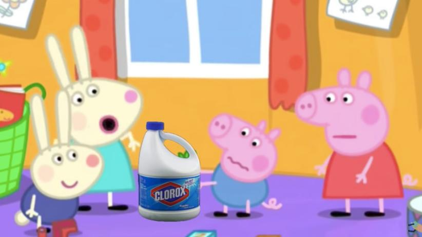 YouTube Kids: Peppa Pig mit Bleichmittel – auch das findet sich auf YouTube Kids.