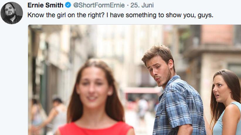 """Neues vom """"Distracted-Boyfriend-Meme"""": Schockiert in allen Lebenslagen"""