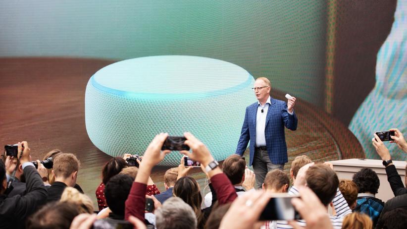 Smarthome: Der Chef des Gerätegeschäfts von Amazon, Dave Limp, präsentiert die Neuheiten des Konzerns in Seattle.