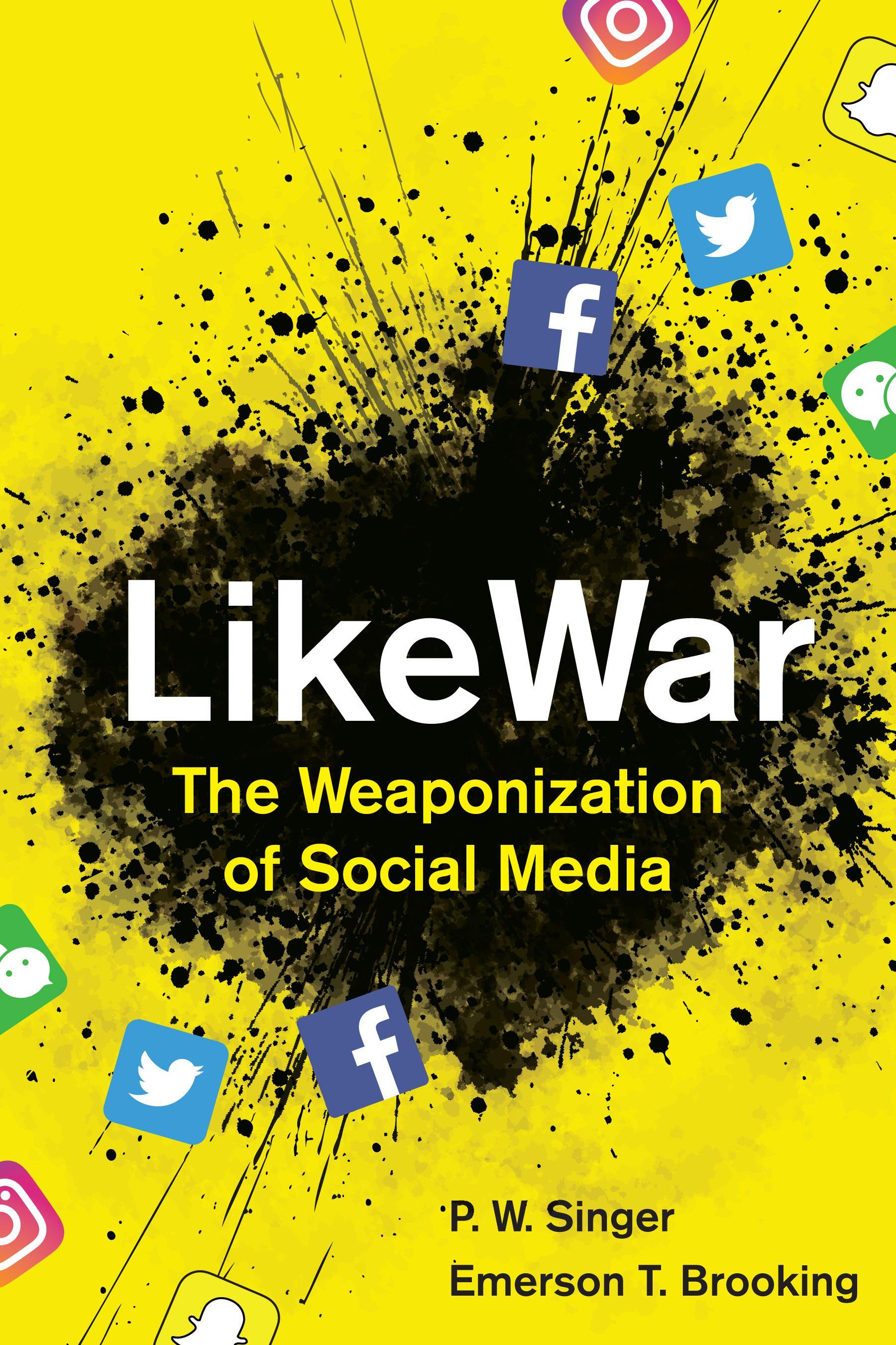 """""""LikeWar"""": Peter W. Singer ist Senior Fellow am Washingtoner Think Tank """"New America Foundation"""", er hat unter anderem die Bücher """"Corporate Warriors: The Rise of the Privatized Military Industry"""" (2004) und """"Wired for War: The Robotics Revolution and 21st Century Conflict"""" (2009) verfasst. Emerson T. Brooking ist Sicherheitsexperte und hat unter anderem für die US-Magazine """"The Atlantic"""" und """"Wired"""" geschrieben."""