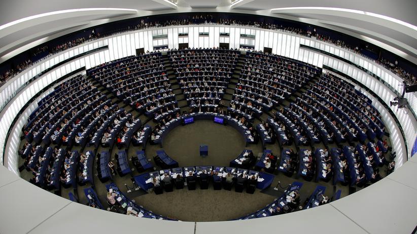 EU-Urheberrechtsreform : Das Europäische Parlament in Straßburg
