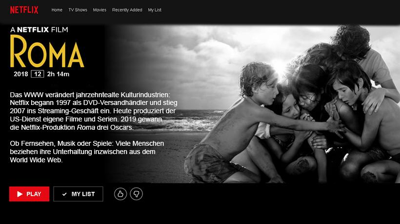 World Wide Web Netflix