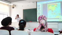 Internet an der Tafel - hier allerdings in einer Schule in China