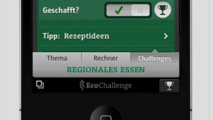 """Die App """"EcoChallenge"""" fordert ihre Nutzer zu umweltschutzbasierten Aktivitäten heraus."""