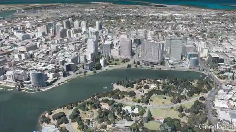 Kartendienste: Google Earth für Mobilgeräte soll in den nächsten Monaten um 3D-Bilder von Metropolregionen ergänzt werden.
