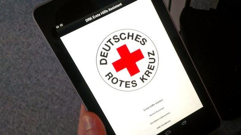 Erste-Hilfe-App des Roten Kreuzes auf einem Nexus 7