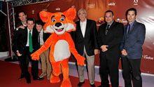 Das Maskottchen der Mozilla-Stiftung bei einer Veranstaltung in Cannes