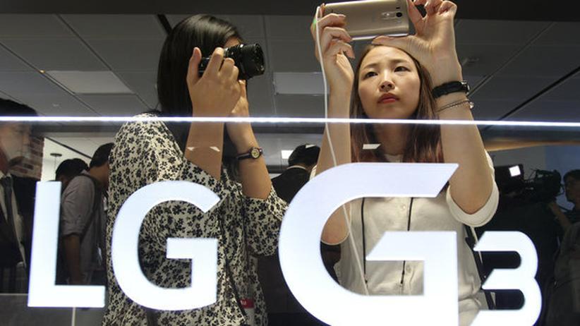 LG Electronics präsentiert sein neues Oberklasse-Smartphone in Seoul, Südkorea.