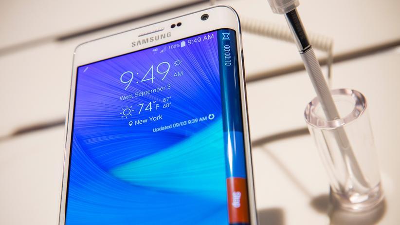 Samsung Galaxy Note 4: Smartphone mit Knick