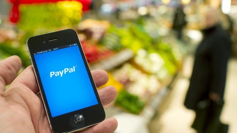 Der Startbildschirm der PayPal App