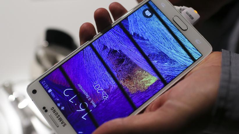 Das Samsung Galaxy Note 4 auf der IFA 2014 in Berlin