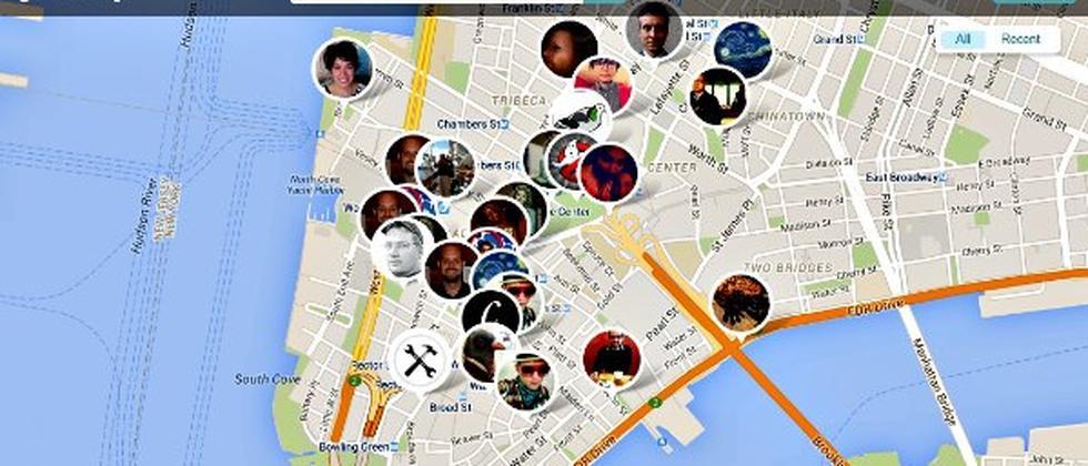Findery App Karte mobil Smartphone