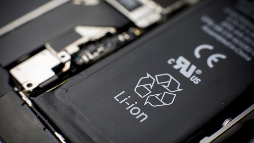 Lithium-Ionen-Akku in einem Smartphone