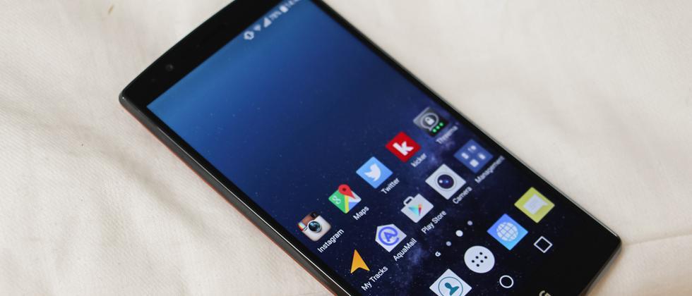 So sieht das LG G4 Smartphone von vorne aus.