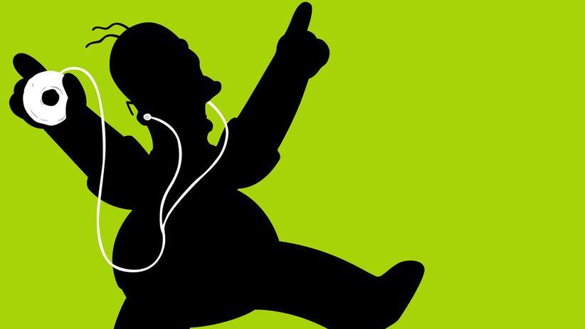 Satirische Abwandlung einer Apple-Werbekampagne für den iPod
