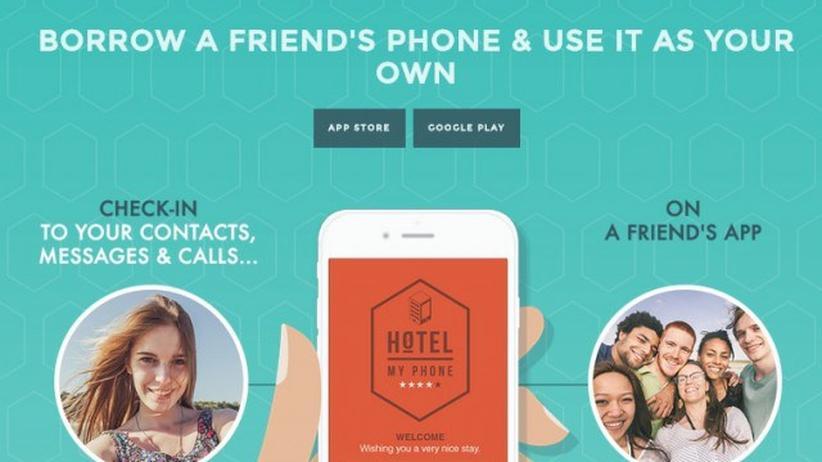 Die App Hotel My Phone verleiht das eigene Smartphone.