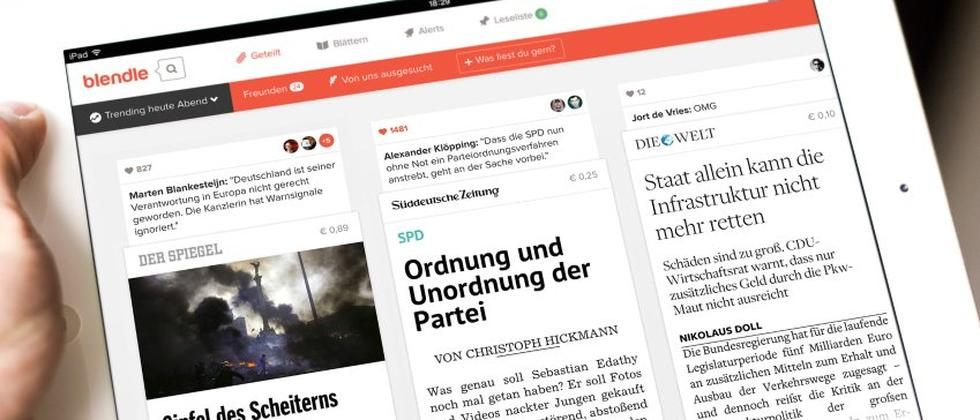 Mit Blendle lassen sich einzelne Artikel aus Zeitungen kaufen.