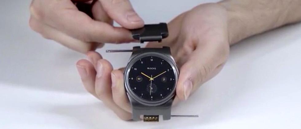 Die Module der Smartwatch Blocks sind Glieder des Uhrenbandes.