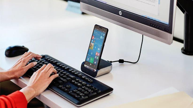 Mobile World Congress: So sehen Computer heute aus: Das HP Elite x3 ist ein Smartphone mit der Ausstattung eines Laptops.