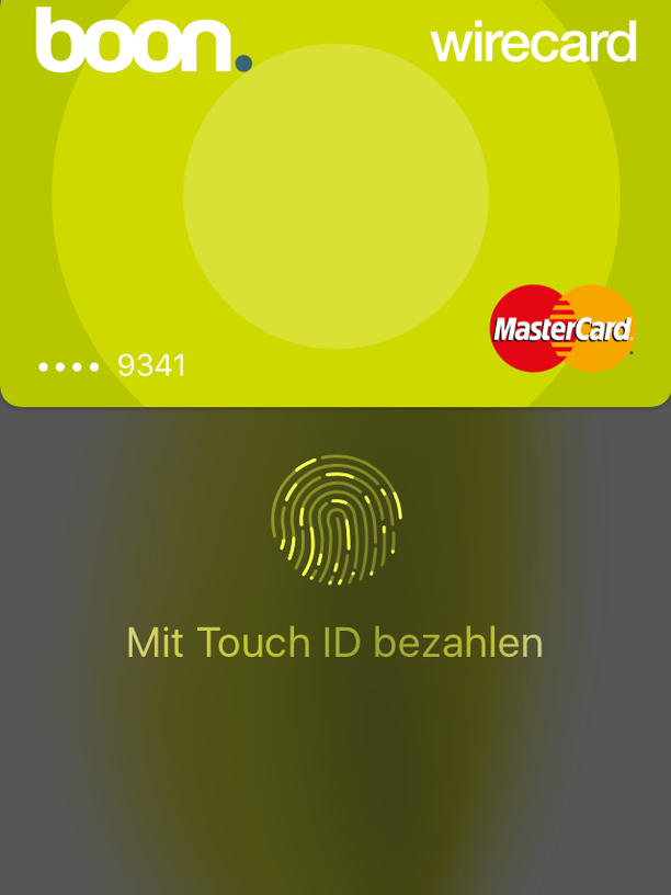 boon in der Apple Wallet