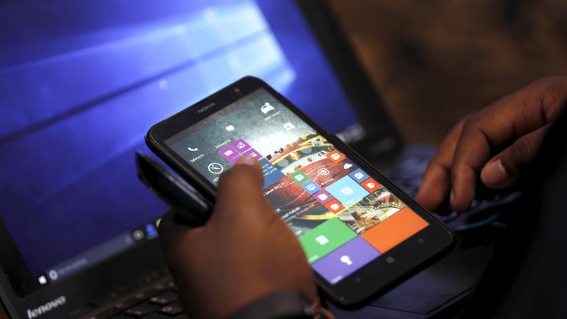 Smartphone mit dem Betriebssystem Windows Phone