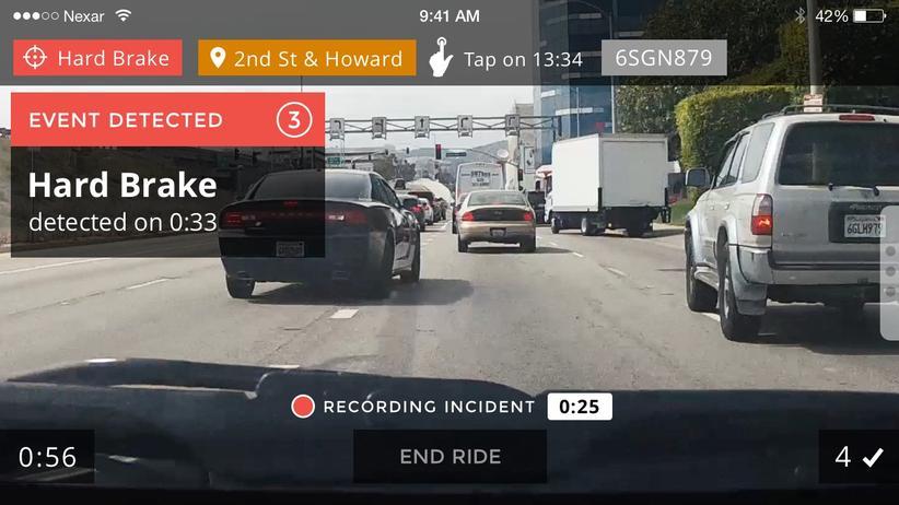 Screenshot aus der Nexar-App