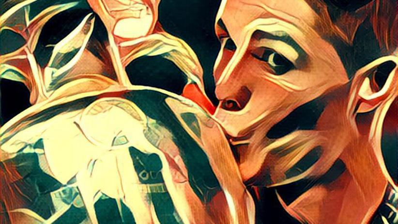 Sieht auch in Natur aus wie gemeißelt: Cristiano Ronaldo nach dem EM-Sieg