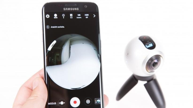 Mit der zugehörigen App lässt sich die Gear 360 auch vom Smartphone aus bedienen