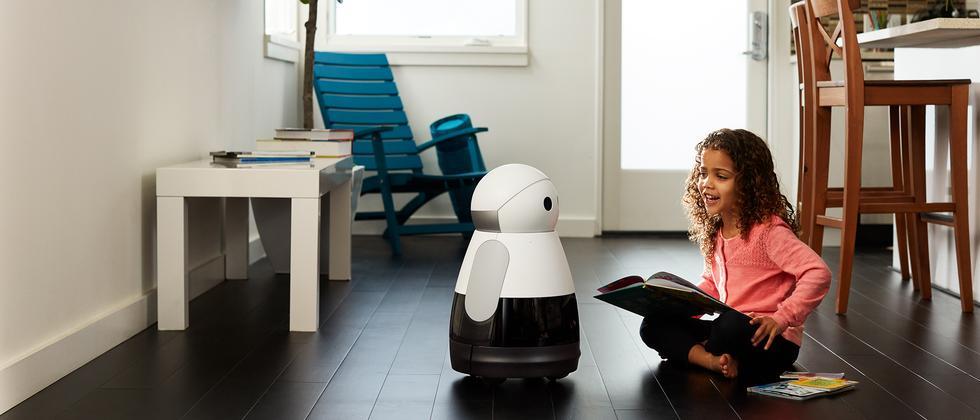 Der Roboter Kuri soll ein neues Familienmitglied sein.
