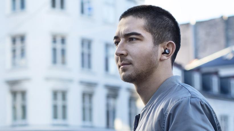 Mobile World Congress: Der Earin M2 ist einer der kleinsten Bluetooth-Ohrhörer.