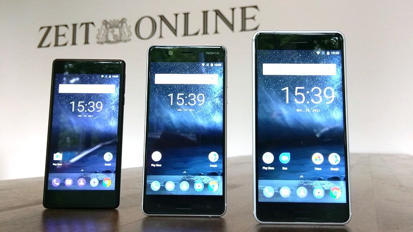 Nokia 6, 5 und 3: Von links nach rechts: Die neuen Nokia-Smartphones 6, 5 und 3
