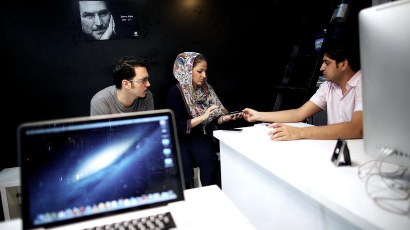 Kein offizieller Apple Store, aber eine iranische Version davon in Teheran.
