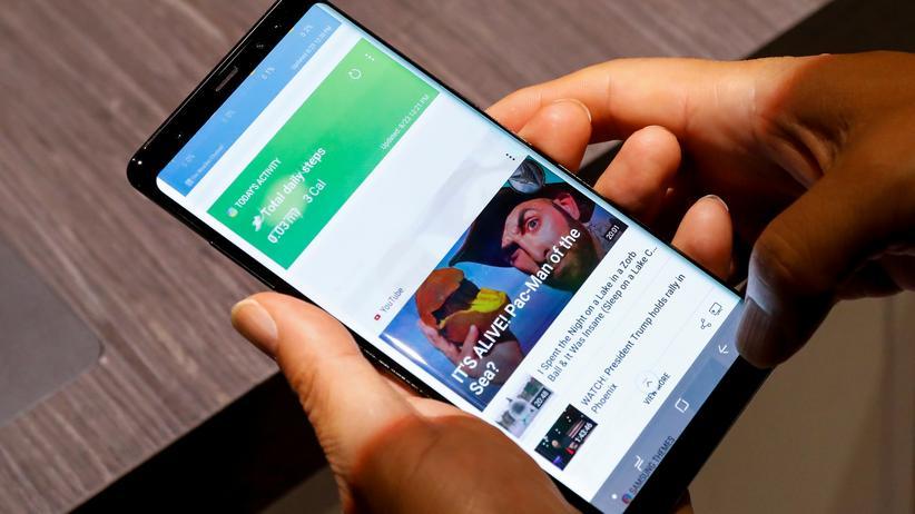 Das Galaxy Note 8 hat einen 6,3 Zoll Bildschirm.