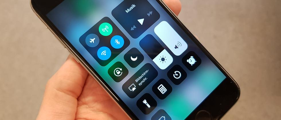 Das neue Kontrollzentrum in iOS 11