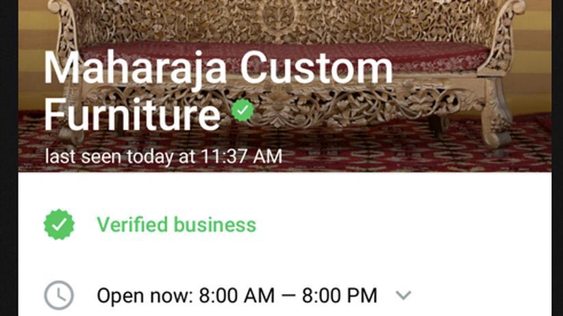 Unternehmen auf WhatsApp