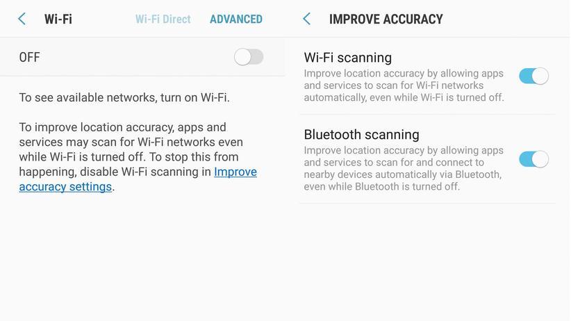 """Der """"WLAN-Scan"""" in einem Galaxy S8"""